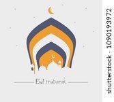 eid mubarak islamic vector... | Shutterstock .eps vector #1090193972