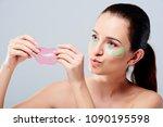 portrait of beauty woman with... | Shutterstock . vector #1090195598