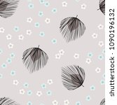 tropical seamless pattern with... | Shutterstock .eps vector #1090196132