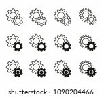 simple set vector setting icons.... | Shutterstock .eps vector #1090204466