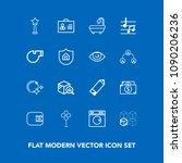 modern  simple vector icon set... | Shutterstock .eps vector #1090206236