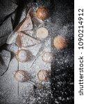 top view of assortment of... | Shutterstock . vector #1090214912