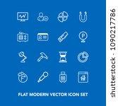 modern  simple vector icon set...   Shutterstock .eps vector #1090217786