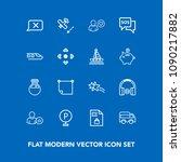 modern  simple vector icon set...   Shutterstock .eps vector #1090217882