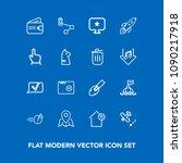 modern  simple vector icon set...   Shutterstock .eps vector #1090217918