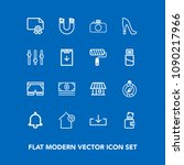 modern  simple vector icon set... | Shutterstock .eps vector #1090217966
