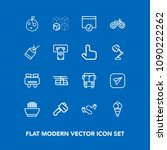 modern  simple vector icon set... | Shutterstock .eps vector #1090222262