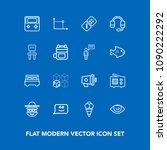 modern  simple vector icon set... | Shutterstock .eps vector #1090222292