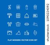 modern  simple vector icon set... | Shutterstock .eps vector #1090224092