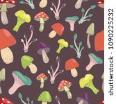 seamless pattern with different ... | Shutterstock .eps vector #1090225232