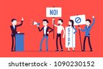 liar and people protesting. man ... | Shutterstock .eps vector #1090230152