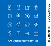 modern  simple vector icon set... | Shutterstock .eps vector #1090230992