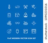 modern  simple vector icon set... | Shutterstock .eps vector #1090231016