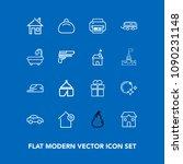 modern  simple vector icon set...   Shutterstock .eps vector #1090231148