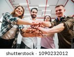 young and motivated team of... | Shutterstock . vector #1090232012