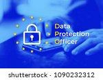 dpo   data protection officer.... | Shutterstock . vector #1090232312