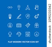 modern  simple vector icon set... | Shutterstock .eps vector #1090233362