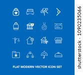 modern  simple vector icon set... | Shutterstock .eps vector #1090235066