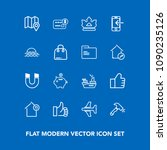 modern  simple vector icon set... | Shutterstock .eps vector #1090235126
