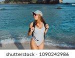 emotional portrait of fashion... | Shutterstock . vector #1090242986