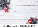 new year's background. spruce... | Shutterstock . vector #1090243802