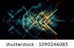 abstract technological... | Shutterstock . vector #1090246085
