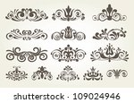 vintage element and page... | Shutterstock .eps vector #109024946