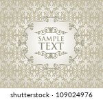 vintage frame on damask... | Shutterstock .eps vector #109024976