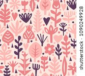 seamless abstract floral... | Shutterstock .eps vector #1090249928