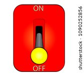 huge electric knife switch off...   Shutterstock .eps vector #1090252856