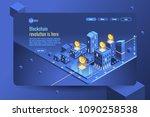 virtual cash transaction ...   Shutterstock .eps vector #1090258538