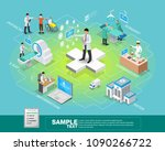 isometric smart health and... | Shutterstock .eps vector #1090266722