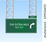 image of a highway sign with an ... | Shutterstock .eps vector #109026692