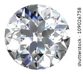 diamond jewel on white... | Shutterstock . vector #109026758