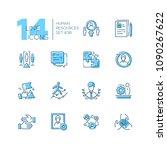 human resources   set of line... | Shutterstock .eps vector #1090267622