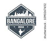 bangalore india travel stamp...   Shutterstock .eps vector #1090267652