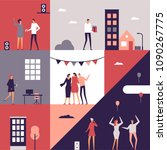 party   flat design style... | Shutterstock .eps vector #1090267775