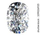 diamond jewel on white... | Shutterstock . vector #109026935