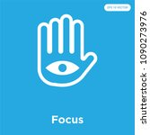 focus vector icon isolated on... | Shutterstock .eps vector #1090273976