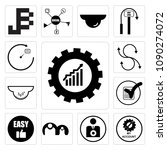 set of 13 simple editable icons ... | Shutterstock .eps vector #1090274072