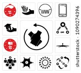 set of 13 simple editable icons ...   Shutterstock .eps vector #1090274396