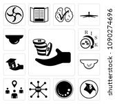 set of 13 simple editable icons ...   Shutterstock .eps vector #1090274696