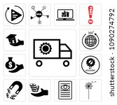 set of 13 simple editable icons ...   Shutterstock .eps vector #1090274792