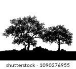 vector of tree  silhouette of... | Shutterstock .eps vector #1090276955