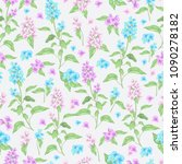 vector seamless  pattern with... | Shutterstock .eps vector #1090278182