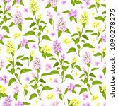 vector seamless  pattern with... | Shutterstock .eps vector #1090278275