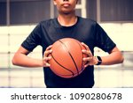 african american teenage boy... | Shutterstock . vector #1090280678