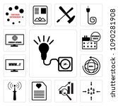 set of 13 simple editable icons ... | Shutterstock .eps vector #1090281908
