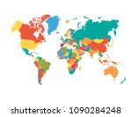 world map vector | Shutterstock .eps vector #1090284248