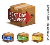 next day delivery icon set in... | Shutterstock .eps vector #109028606